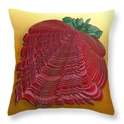 Large Strawberry Scallop Throw Pillow