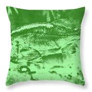 Largemouth Bass 9 Throw Pillow