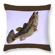 Largemouth Bass Side Profile Throw Pillow