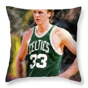 Larry Bird - 01 Throw Pillow