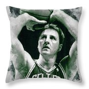 Larry Bird - 03 Throw Pillow