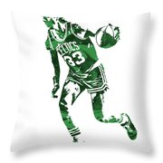 Larry Bird Boston Celtics Pixel Art 10 Throw Pillow