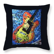 Larry Carlton Guitar Throw Pillow