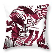 Larry Fitzgerald Arizona Cardinals Pixel Art 1 Throw Pillow