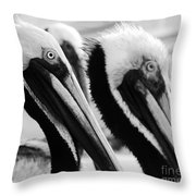 Larry, Moe And Curly Throw Pillow