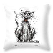Larry The Cat Throw Pillow
