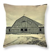 Larsen Road Barn Throw Pillow