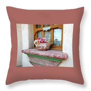 Las Flores Throw Pillow
