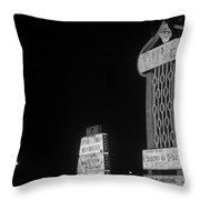 Las Vegas 1980 Bw #7 Throw Pillow