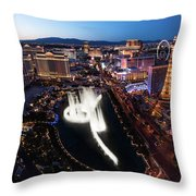 Las Vegas Lights Throw Pillow