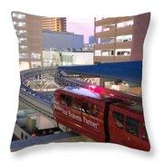 Las Vegas Monorail Throw Pillow