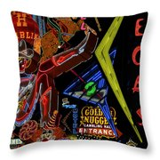 Las Vegas Neon Throw Pillow
