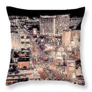 Las Vegas Never Sleeps Throw Pillow