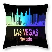 Las Vegas Nv 5 Vertical Throw Pillow