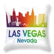 Las Vegas Nv  Throw Pillow