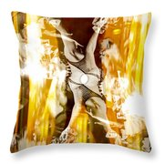 Seeing Beyond The Glass Aka Las Vegas Reflections Throw Pillow
