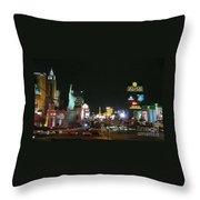 Las Vegas Strip At Night Throw Pillow