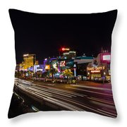Las Vegas Strip At Night Throw Pillow