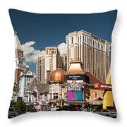 Las Vegas Strip Throw Pillow