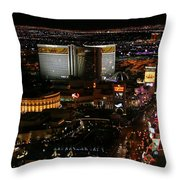 Las Vegas Strip Throw Pillow by Kristin Elmquist