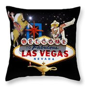 Las Vegas Symbolic Sign Throw Pillow