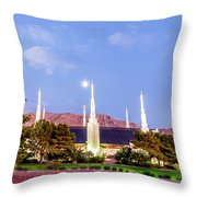 Las Vegas Temple Moon Throw Pillow