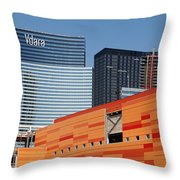 Las Vegas Under Construction Throw Pillow
