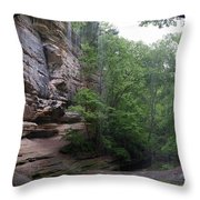 Lasalle Canyon Starved Rock State Park Throw Pillow