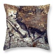 Lascaux: Bison Throw Pillow