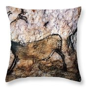 Lascaux: Running Deer Throw Pillow