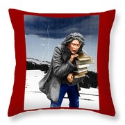 Last Books Of Knowledge Throw Pillow