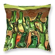 Last Call At The Cantina Throw Pillow