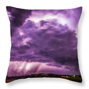 Last Chace Lightning For 2017 006 Throw Pillow