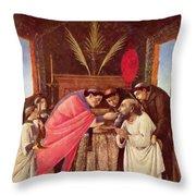 Last Communion Of St Jerome Throw Pillow