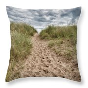 Last Effort Before Reaching The Beach... Throw Pillow