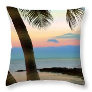 Last Evening Lights Throw Pillow