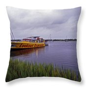 Last Ferry To Lookout Throw Pillow