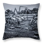 Last Journey - Salvage Yard Throw Pillow