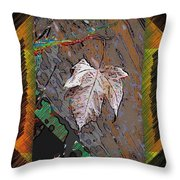 Last Leaf Standing Throw Pillow