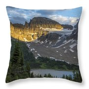 Last Light At Assiniboine Throw Pillow