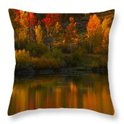 Last Light At Oxbow Bend  Throw Pillow