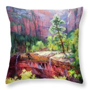 Last Light In Zion Throw Pillow