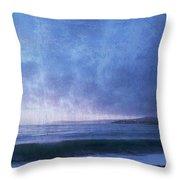 Last Light On Carmel Bay Throw Pillow