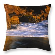 Last Light On Harris Beach Throw Pillow