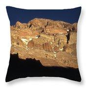 Last Light On Mt Aconcagua Throw Pillow