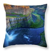 Last Light On Palouse Falls Throw Pillow