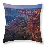 Last Light On The Canyon Throw Pillow