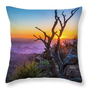 Last Light On The South Rim Throw Pillow