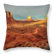 Last Light Over Monument Valley Throw Pillow
