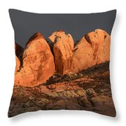 Last Light Valley Of Fire Throw Pillow